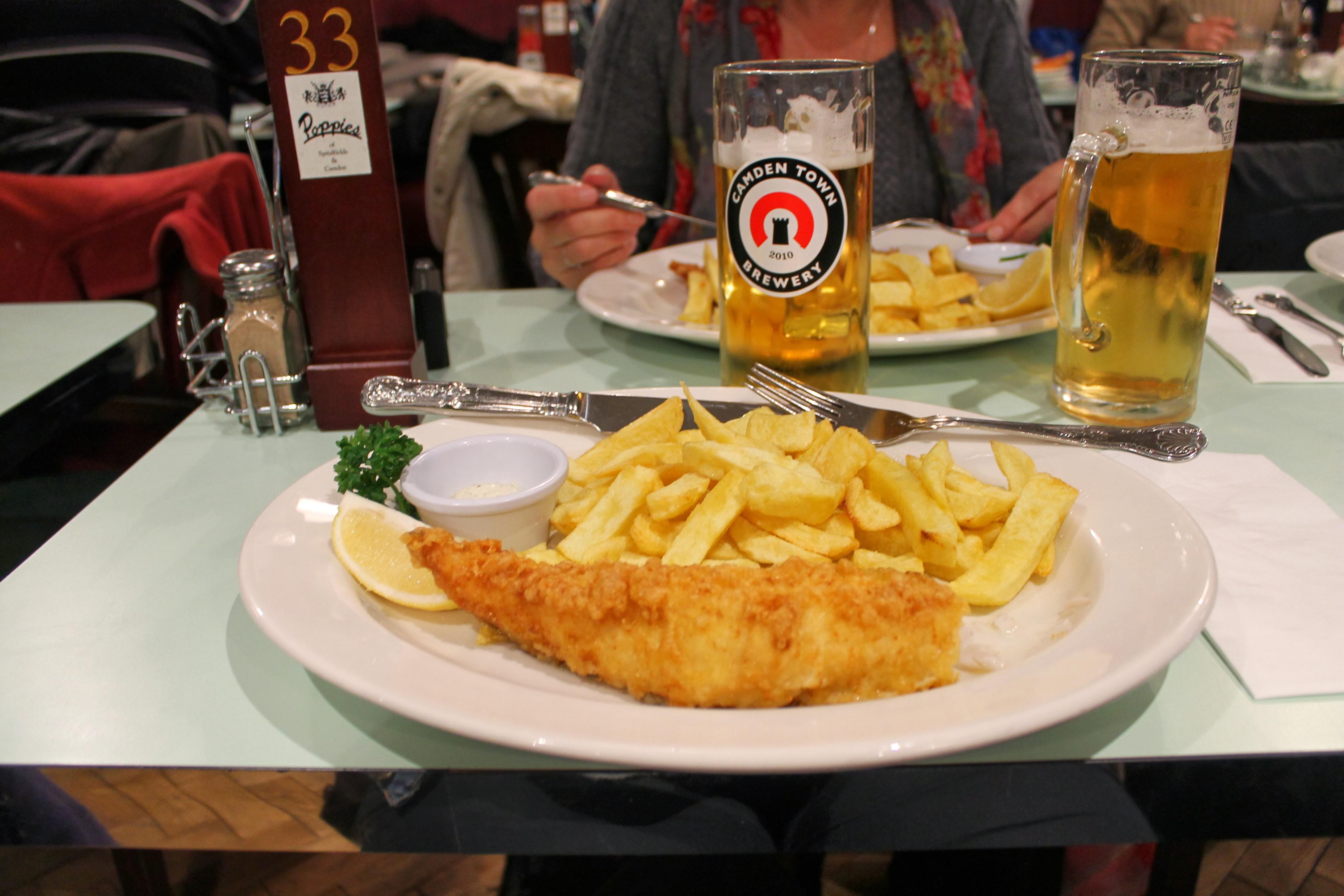 Manger un fish & chips Londres - Camden Town - En moins de deux