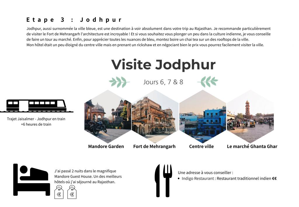 Etape 3 - Jodhpur -  Itinéraire au Rajasthan